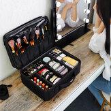 Makijaż Skórzana profesjonalna walizka kosmetyczna Kobiece kosmetyki Makijaż Schowek Szczotki podróżne Organizer