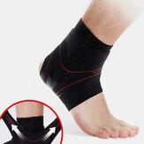 Unisex bokaízület boka megrándulása elleni védekezés rugalmas gumihüvelyes fogaskerék sportzokni