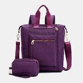 Vandtæt håndtaske med stor kapacitet Skulderpose Rygsæk med koblings taske til kvinder