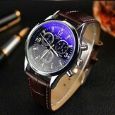 YAZOLE 271 Men Watch Fashion Style Kulit Strap Kuarsa Wrist Watch