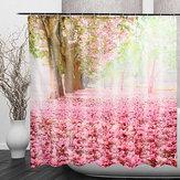 CherryBlossom3DFashionШаблонВанная комната Ткань Занавески для душа Украшение дома Водонепроницаемы