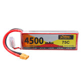 ZOP Power 7.4V 4500mAh 75C 2S Lipo Battery XT60 Plug for RC Drone Car