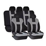 Uniwersalne pokrowce na siedzenia samochodowe Przednie osłony tylne 9-częściowy zestaw do prania w kolorze szarym i czarnym