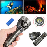 Elfeland T6 2600lm Underwater 80m Dive Light + 1Pcs 5000mAh 26650 LED Set torcia subacquea