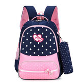 22L Cute Kids Children Girl Backpack Waterproof Nylon School Book Rucksack With Pencil Bag