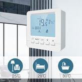 MoesHouse LCD 5A Настенный газовый котел Термостат Водяное отопление Регулятор температуры Программируемый Батарея с подсветкой