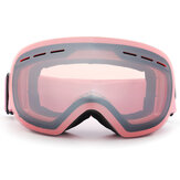 Original              4 Color Anti-fog Ski Goggles Clear Double-Lens Winter Skiing Snowboard Snow Glasses