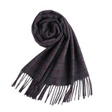 LYZA 190cm British Style Scarf Men's Long Wool Scarf Soft Shawl Neckercheif