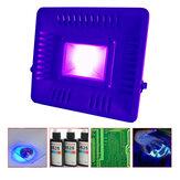 AC110V/220V 50W 395nm UV Curing LED Floodlight Waterproof Lamp for Plastic Printing Money Detector