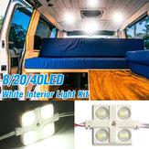 DC12V 8/20/40LED Фонарь освещения салона сзади Набор Для LWB Transit Van Truck Offroad