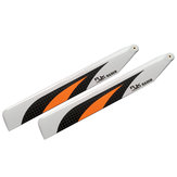 1 Pair RJX 155mm Carbon Fiber Main Blade For Blade 180CFX XK K130 RC Helicopter