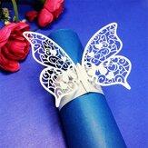 Lasergesneden vlindervorm servetringen voor diners lunch tafels Home Wedding Anniversray Party Decor