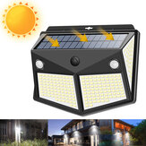 260 LED Outdoor Garden Solar Powered Security Wall Light PIR Lampa z czujnikiem ruchu