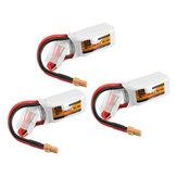 3 szt. ZOP Power 11,1V 450mAh 35C 3S Bateria Lipo XT30 Wtyczka