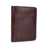 Genuine Leather Vintage Solid Plain Wallet Coin Bag For Men
