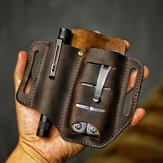 Hombres Piel Genuina Wing Leather Holster Cinturón Bolsa militar Tactical Bolsa