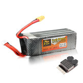 ZOP Power 22.2V 4200mAh 6S 45C Lipo Battery XT60 Plug With Battery Alarm