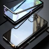 Bakeey2em1AdsorçãoMagnética Flip Vidro Temperado + Protetor de Lente Proteção Completa de Metal Caso para Samsung Galaxy S20 + / Galaxy S20 Plus 5G 2020