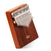 HLURU 17 Keys wooden Kalimbas bottom hole Mahogany Musical Instrument for beginner