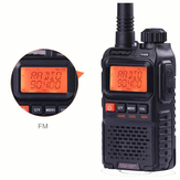 BAOFENG UV3R Plus Mini Talkie Walkie Interphone UHF VHF Double Bande Double Affichage Full Channels FM Radio Lampe de Poche