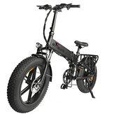 [US DIRECT] ENGWE ENGINE PRO 750W 12.8Ah 48V 20 * 4in Katlanır Yağ Lastiği Elektrikli Bisiklet Bisiklet 45km / s En Yüksek Hız Şehir Dağ E BİSİKLET