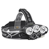 XANES 2309-B 1500 Lumens Bicycle Headlight 5 skifttilstande T6 + 2XPE Blå Lys Outdoor Sports HeadLamp Justerbar Head Light