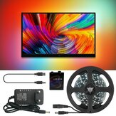 Ambilight DC5V 2M / 3M / 4M / 5M WS2812B 5050 RGB Dream Color APP USB LED Strip Light per schermo PC desktop