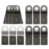 12pcs Mixed Blades Oscillating Multitool Saw Blade Accessories For Fein multimaster Bosch Makita