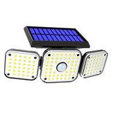 112LED/138LED/132COB Solar Motion Sensor Lights Security Wall Lamp Floodlight 3-Head