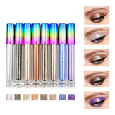 8 färger Colorful Shimmer Glitter Liquid Eye Shadow