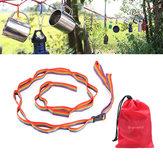 色ful屋外キャンプハイキングガーデンアクセサリーのテントハングストラップテントロープコード