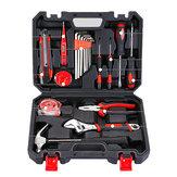 Original 20 piezas de reparación de mano herramienta Set Home Household Kit con Destornillador Llave Hammer Cinta Alambre Cortador y Caja