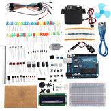 KW-AR-StartKit Kit con 17 classi UNO R3 Motore DC Breadboard Set di componenti Geekcreit per Arduino - prodotti che funzionano con schede ufficiali Arduino