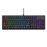 Rapoo V808 Wired Mechanical Gaming Keyboard 104 Keys Cherry Switch Red Switch RGB Back Light PBT Keycap USB bluetooth