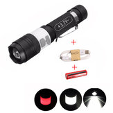 Elfeland  T6 3Modes 2000LM USB Zoomable LED Flashlight+18650+USB Charging Cable