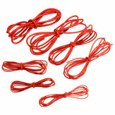 DANIU 2 Meter Red Silicone Wire Cable 10/12/14/16/18/20/22AWG Flexible Cable