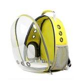 犬の猫透明なスペースのカプセル通気性のあるショルダーバッグペットの外旅行ポータブルキャリーバックパック
