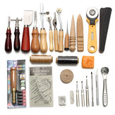 37Pcs Leather Craft Tool Kit Cucito a mano Cucitura Punch Sella Lavoro intaglio