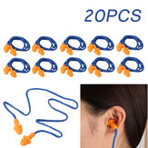 20 Pairs Soft Silicone Ear Plugs Reusable Hearing Protection Sleeping Loud Noise Traveling Studying Earplugs with Rope