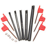5pcs SCLCR 6/7/8/10/12mm Lathe Boring Bar Tunring Tool With 5pcs CCMT0602 Insert