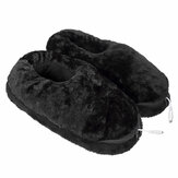 USB Electric Heating Shoes Slippers Heated Plush Foot Pad Winter Warmer Snow Boots