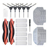22pcs Replacements for Xiaomi Mijia STYTJ02YM MOP PRO Viomi V2 V3 Vacuum Cleaner Parts Accessories Main Brushes*2 Side Brushes*5 HEPA Filters*7 Wet Mop Clothes*3 Dry Mop Clothes*3 CleaningTool*1 Screwdriver*1 [Non-Original]