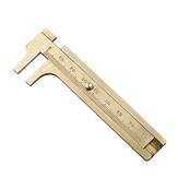 Pocket 12cm / 80mm Mini Messing Sliding Ruler Gauge Vernier Calip Metaal Koper Messing Straight Ruler Metalen Remklauwen Gauge Micrometer Kraal Draden Sieraden Meetinstrumenten Kantoor Schoolbenodigdheden