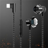 F13 Type-c Wired Earphone Hifi Bass Metal Sport In-ear Headset Music Gaming Earphone with Mic for Oneplus Xiaomi Huawei