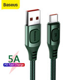 Baseus 5A USB Type-C Cable Multi-protocol Conversion Support QC3.0 PD3.0 SCP FCP AFC Protocol Fast Charge Braided Nylon Data Transfer Cord For iPhone for Samsung Huawei Xiaomi for iPad for Nintendo Switch