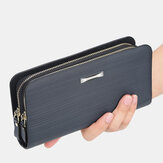 Baellerry Men PU Leather Large Capacity Multi-card Slot Carry Handle Casual Clutch Bag Card Holder Wallet