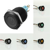 12V 22mm 6 Pin Led Metal Push Button Latching Power Switch