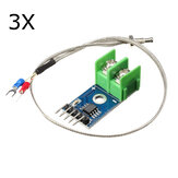 3Pcs MAX6675 Sensor Module Thermocouple Cable 1024 Celsius High Temperature Available