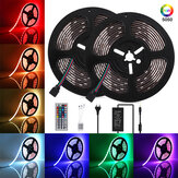 GLIME 10M DC12V 5050 RGB LED Strip Light Waterproof Flexible Tape Lamp with 44Keys Remote Control + Power Adapter