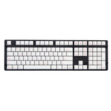 Magicforce 108 Key White Color Red Fonts Dye-sub PBT Keycaps Keycap Set for Mechanical Keyboard